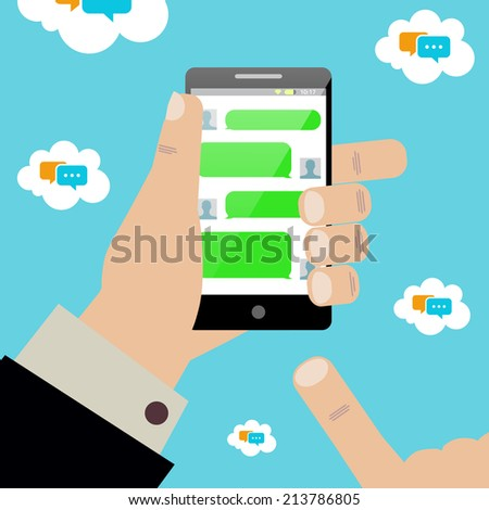 phone texting template stock illustration 213786805 shutterstock