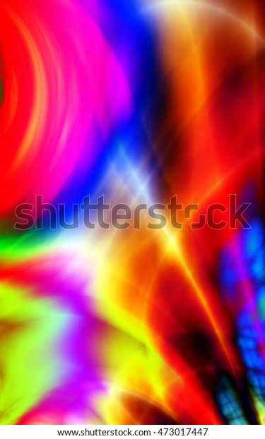 Phone Wallpaper Abstract Colorful Fun Crazy Stock Illustration