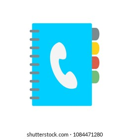 Phonebook flat business support service raster illustration icon