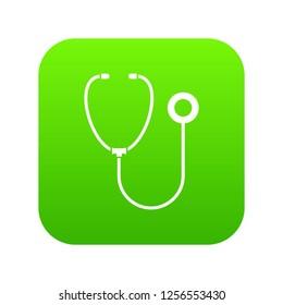 Phonendoscope icon digital green for any design isolated on white illustration
