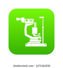 Phoropter icon digital green for any design isolated on white illustration