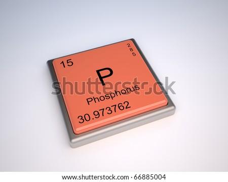 Phosphorus Chemical Element Periodic Table Symbol Stock Illustration