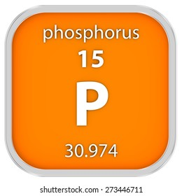 Phosphorus material on the periodic table. Part of a series.