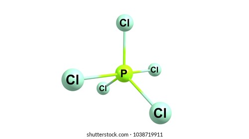 Phosphorus pentachloride is the chemical compound with the formula PCl5. It is one of the most important phosphorus chlorides. 3d illustration