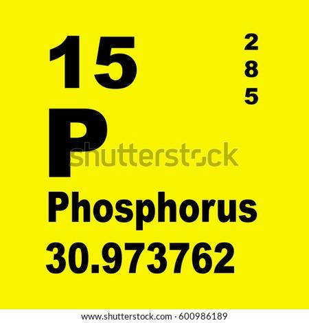 Phosphorus Periodic Table Elements Stock Illustration 600986189