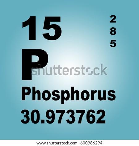Phosphorus Periodic Table Elements Stock Illustration 600986294