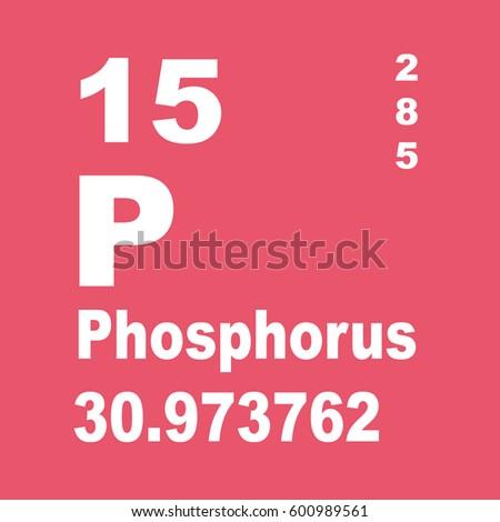 Phosphorus Periodic Table Elements Stock Illustration 600989561