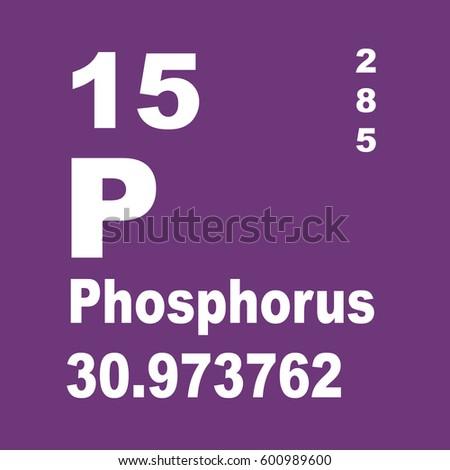 Phosphorus Periodic Table Elements Stock Illustration 600989600