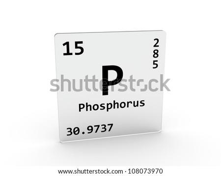 Phosphorus Symbol P Element Periodic Table Stock Illustration