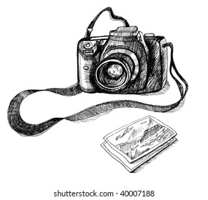 Photo camera. Illustration.