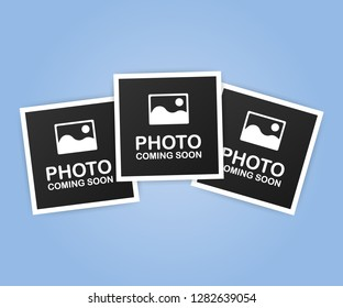 Photo coming soon. Picture frame.  stock illustration