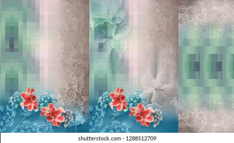 Photo Flower Kurti Colour Pattern Image Digital Colourful Graphics Cute - Illustration