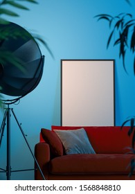 Terrific Blue Wall Red Sofa Images Stock Photos Vectors Shutterstock Ibusinesslaw Wood Chair Design Ideas Ibusinesslaworg