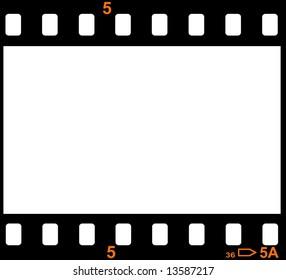 Photo frame isolate on white