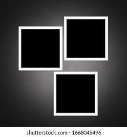 Photo Frame on Wall Background. 3D illustration, 3D rendering