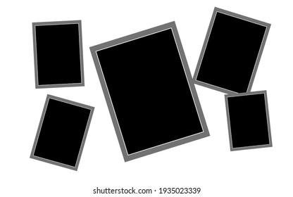 Photo frames background,group of photo frames,empty photo frame background