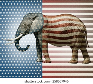 Photo illustration of an elephant �¢?? side view.