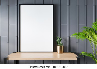 Photo or poster frame mockup suitable for A1, A2, A3, A4, A5 format. 3D rendering.