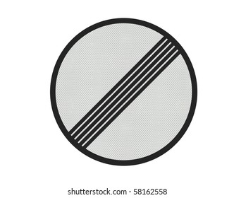 Photo realistic metallic reflective 'no limits' sign, isolated on a pure white background