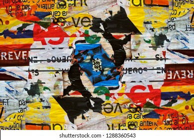 Photo of urban collage background or typography paper texture