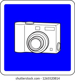 Photocamera allowed blue sign