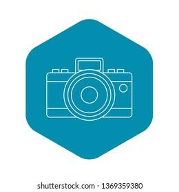 Photocamera icon. Outline illustration of photocamera icon for web