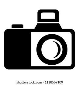 Photocamera icon. Simple illustration of photocamera icon for web