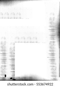 Photocopy lines and print marks on white background
