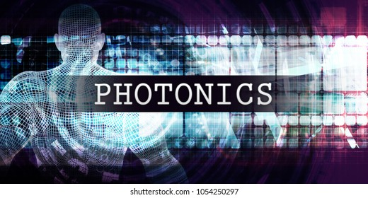 Photonics Industry with Futuristic Business Tech Background 3D Render
