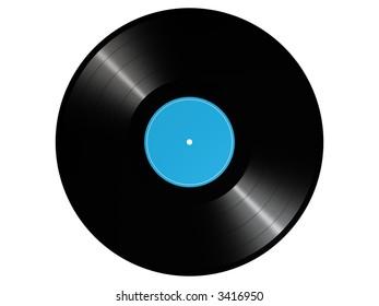 photorealistic 3D render of a vinyl record