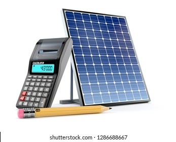 Solar Panel Calculator Images, Stock Photos & Vectors