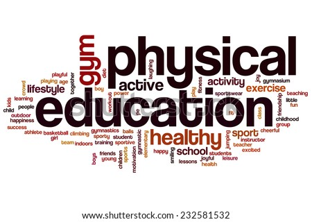 physical education word cloud conceptのイラスト素材 232581532
