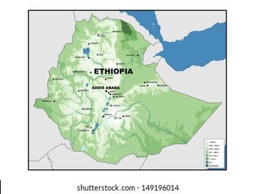 Ethiopia Map Images, Stock Photos & Vectors | Shutterstock