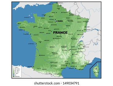 Map Of France Physical.France Physical Map Images Stock Photos Vectors Shutterstock