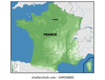 1000+ France Physical Map Stock Images, Photos & Vectors ...