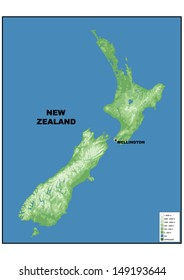 Physical Map Of New Zealand.New Zealand Map Images Stock Photos Vectors Shutterstock