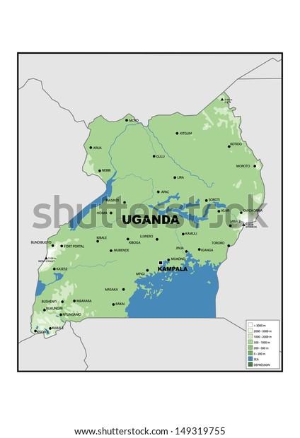 Physical Map Uganda Stock Illustration 149319755 on physical map of north east asia, physical map of nauru, popular foods in uganda, world map of uganda, physical map kenya, physical map of katanga province, physical map of australi, physical map of africa, physical map of former ussr, entebbe uganda, physical map of kampala, regional map of uganda, political map of uganda, physical map of republic of congo, physical map of bodies of water, religion map of uganda, road map of uganda, physical map of lake tanganyika, physical map of st. thomas, physical map of the soviet union,