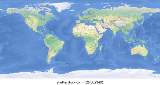 World Physical Map Countries Stock Illustrations Images Vectors