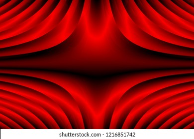 Physics Audio Resonance  Appearance Illustration - Coherent Wave Chladni Figure Abstract Red Background