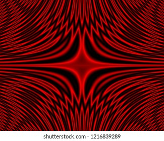 Physics Interference  Appearance - Coherent Wave Moire Abstract Red Background