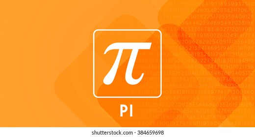 pi day typography on the color background