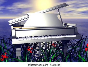 Piano by the Seaside