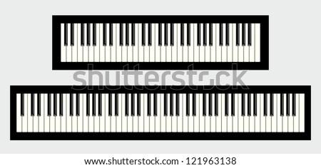 Piano Keyboards 61 88 Keys Iso...