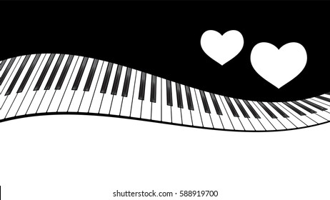 Piano Template Two Hearts Music Creative Stock Illustration ...