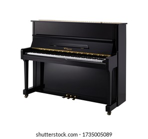 Piano, Upright Piano Percussion Music Instrument Isolated on White background 3D rendering