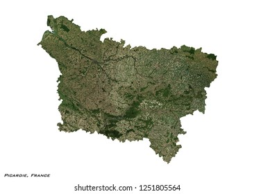 Picardie, France Map (3D illustration)
