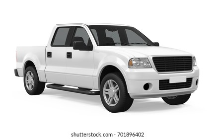 Pickup Truck Isolated. 3D rendering