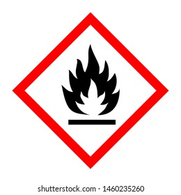 Pictogram for flammable substances illustration