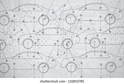 Picture of cars diagrams in grey