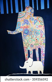 Picture decorative elephants